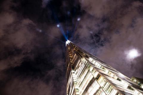 Shard light show